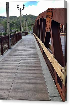 Old Town Temecula Bridge Canvas Print by Russell Keating