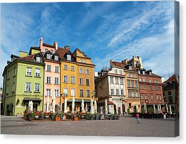 Old Town Warsaw Canvas Print by Chevy Fleet