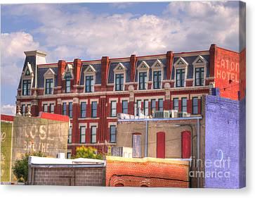 Old Town Wichita Kansas Canvas Print by Juli Scalzi