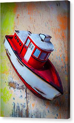 Toy Boat Canvas Print - Old Toy Boat by Garry Gay