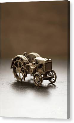 Canvas Print featuring the photograph Old Toy Tractor by Edward Fielding