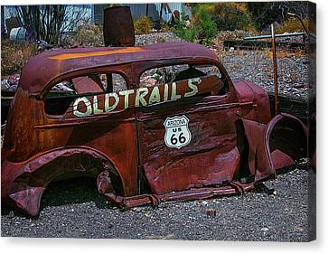 Old Trails Rusty Car Route 66 Canvas Print by Garry Gay