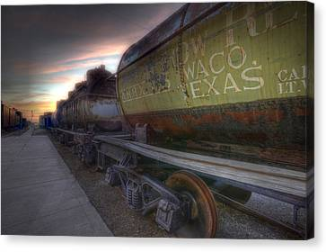 Old Train - Galveston, Tx 2 Canvas Print