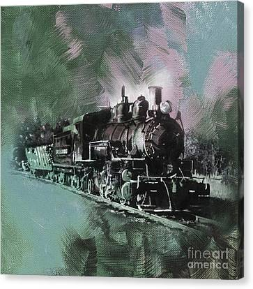 The Bowery Canvas Print - Old Train On A Track  by Gull G