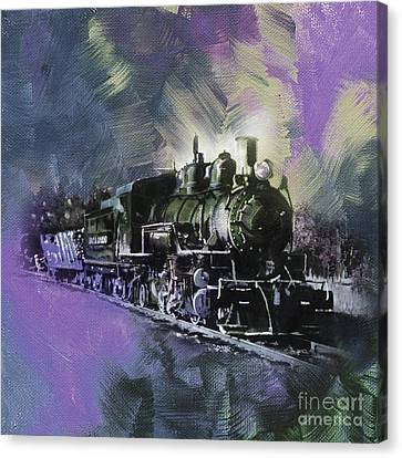 The Bowery Canvas Print - Old Train On Track  by Gull G