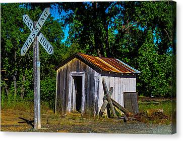 Old Train Shed Canvas Print