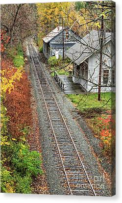 Old Train Station Norwich Vermont Canvas Print by Edward Fielding