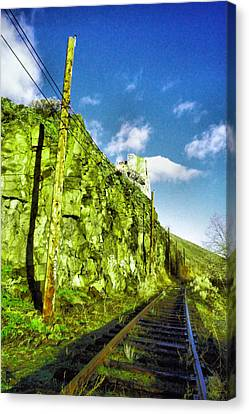 Canvas Print featuring the photograph Old Trolly Tracks by Jeff Swan