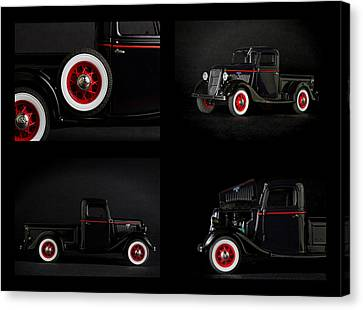 Old Truck Collage Canvas Print