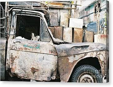 Canvas Print featuring the photograph Old Truck by Dean Harte