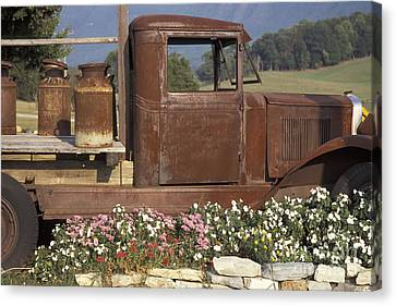 Old Truck In Tennessee Canvas Print by Stan and Anne Foster