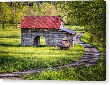Old Truck In The Field Canvas Print by Debra and Dave Vanderlaan