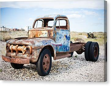 Canvas Print featuring the photograph Old Truck by Silvia Bruno