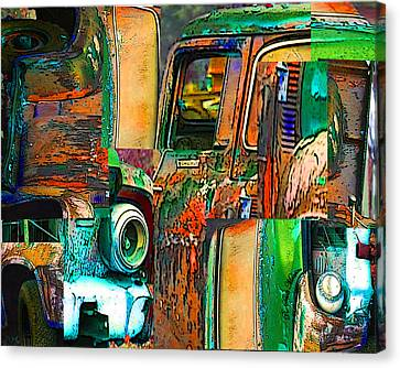 Old Trucks Canvas Print by Robert Meanor