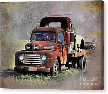 Canvas Print featuring the photograph Old Trucks by Savannah Gibbs