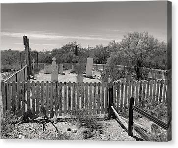Old Tucson Graveyard Canvas Print by Gordon Beck