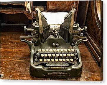 Canvas Print featuring the photograph Old Typewriter by Linda Constant