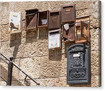 Old  Mailboxes In Jerusalem Canvas Print