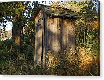 Old Valley Forge Outhouse Canvas Print