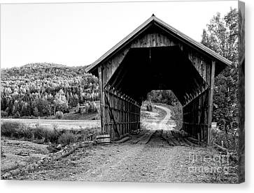Old Vermont Covered Bridge Canvas Print by Edward Fielding