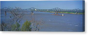 Old Vicksburg Bridge Crossing Ms River Canvas Print by Panoramic Images
