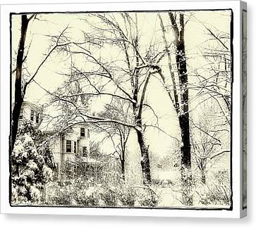 Canvas Print featuring the photograph Old Victorian In Winter by Julie Palencia