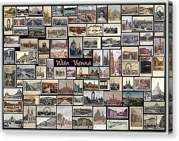 Old Vienna Collage Canvas Print by Janos Kovac