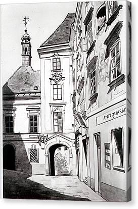 Kirche Canvas Print - Old Viennese Courtyard by Johannes Margreiter