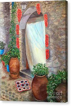 Old Village In Chios Greece  Canvas Print