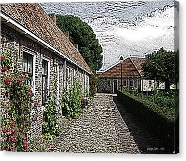 Old Village Canvas Print by Steve K
