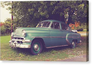 Old Vintage American Car Canvas Print by Edward Fielding