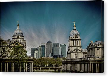 Old Vs New Canvas Print by Martin Newman