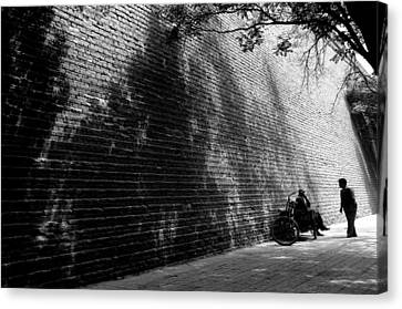 Old Wall Canvas Print by Lian Wang