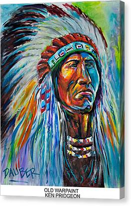 Old Warpaint Canvas Print