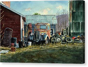 Old Trucks Canvas Print - Old Warwick by Tom Hedderich