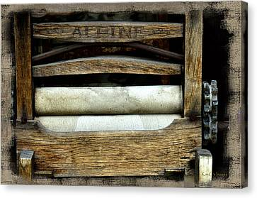 Old Washer Wringer Canvas Print