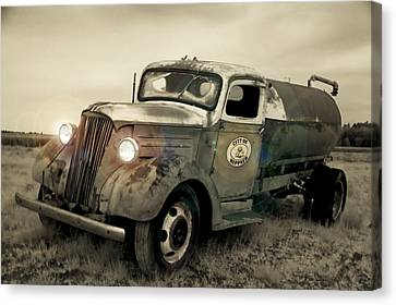 Old Water Truck Canvas Print