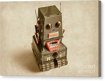 Old Weathered Ai Bot Canvas Print
