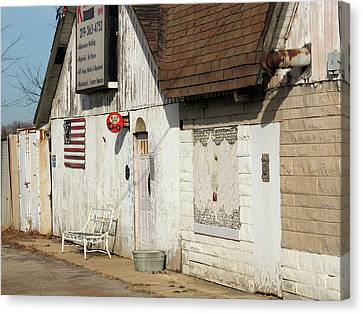 Canvas Print featuring the photograph Old Welding Shop by Scott Kingery