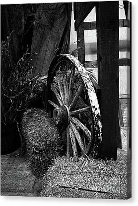Wooden Wagons Canvas Print - Old West by Al Bourassa