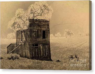 Old West Building Canvas Print by Ronald Hoggard