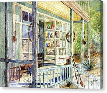 Old West Junk Shop Canvas Print by Marilyn Smith