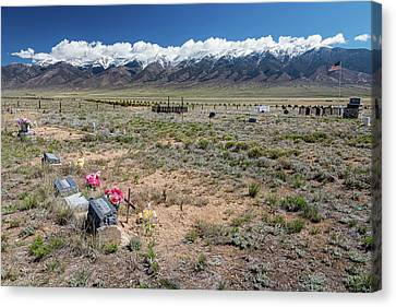 Old West Rocky Mountain Cemetery View Canvas Print by James BO Insogna