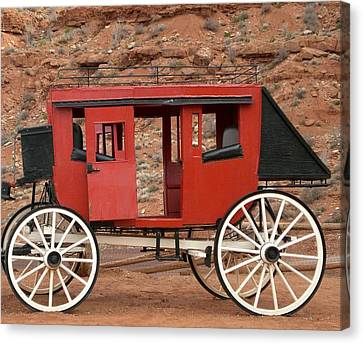 Old West Taxi Canvas Print by Fred Wilson