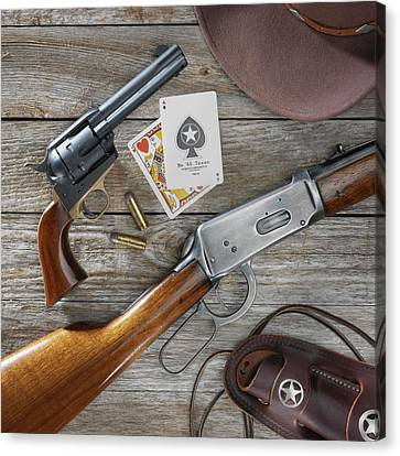 Old West Weapons Canvas Print