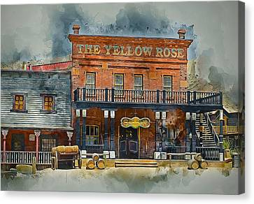 Old Western Saloon Bar Canvas Print