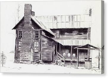 Old Willard Home Canvas Print by Penny Everhart