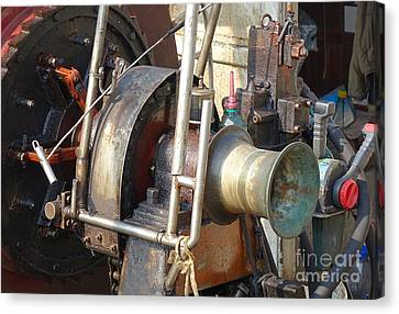 Old Winch On A Fishing Boat Canvas Print by Yali Shi