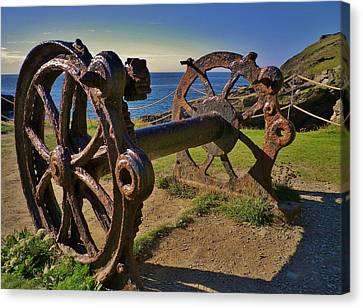 Old Winch Tintagel Canvas Print by Richard Brookes