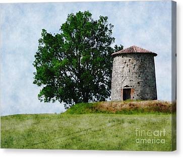 Canvas Print featuring the photograph Old Windmill by Jean Bernard Roussilhe